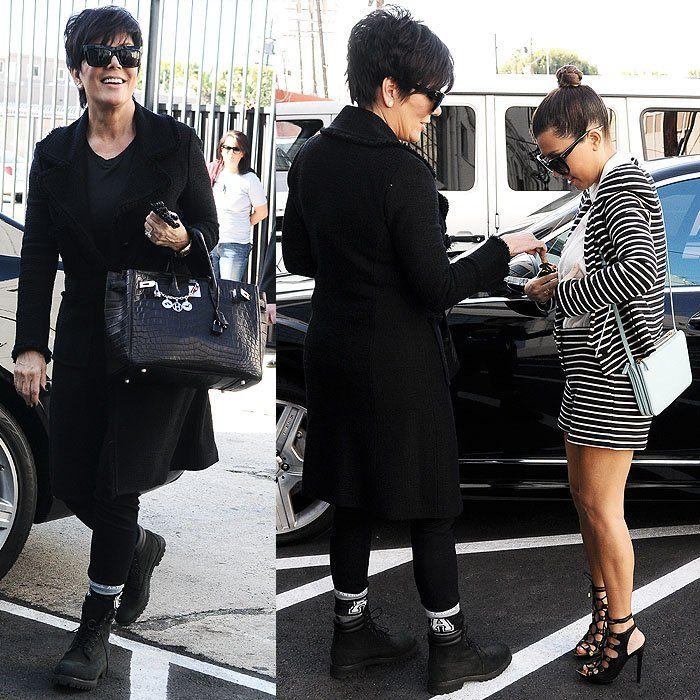 Kris Jenner Timberland boots | My Style Lookbook