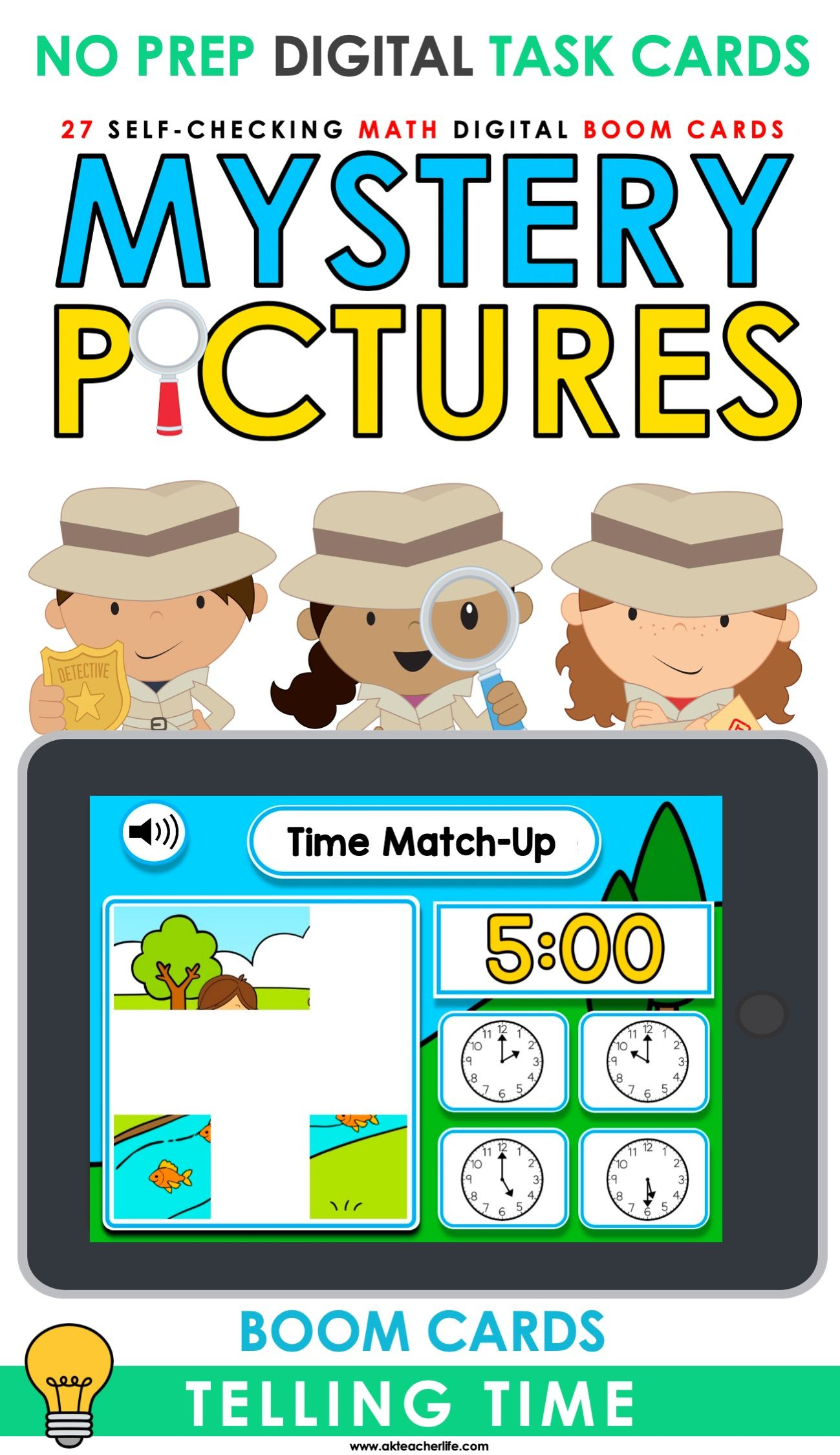 Telling Time Boom Cards Distant Learning In
