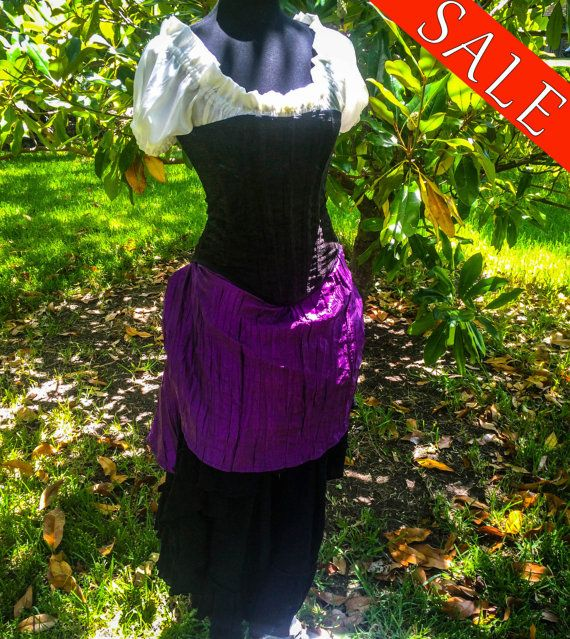 STEAMy Summer sale Purple overskirt with by SilverLeafCostumes