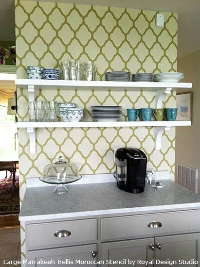 Inspiring Stenciled Furniture, Bookcase and Cabinet Ideas