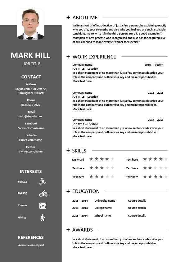 eye catching resume templates cv template designs resume layout font creative 21651