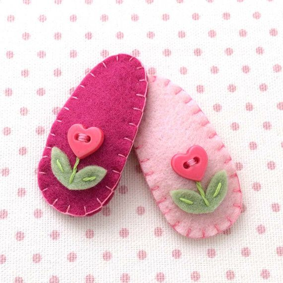 Items similar to Baby Hair Accessories, Toddler Hair Clip, Baby Hair Clip, Felt Hair Clip for Toddlers and Infants, Girl Hair Accessories, Baby Hair Clip on Etsy