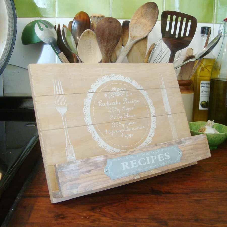 Danish Home Design Ideas: Recipe Book Holders, Wooden Recipe Book