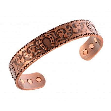 Magnetic Copper Bracelet With Horseshoe Jewelry Farm
