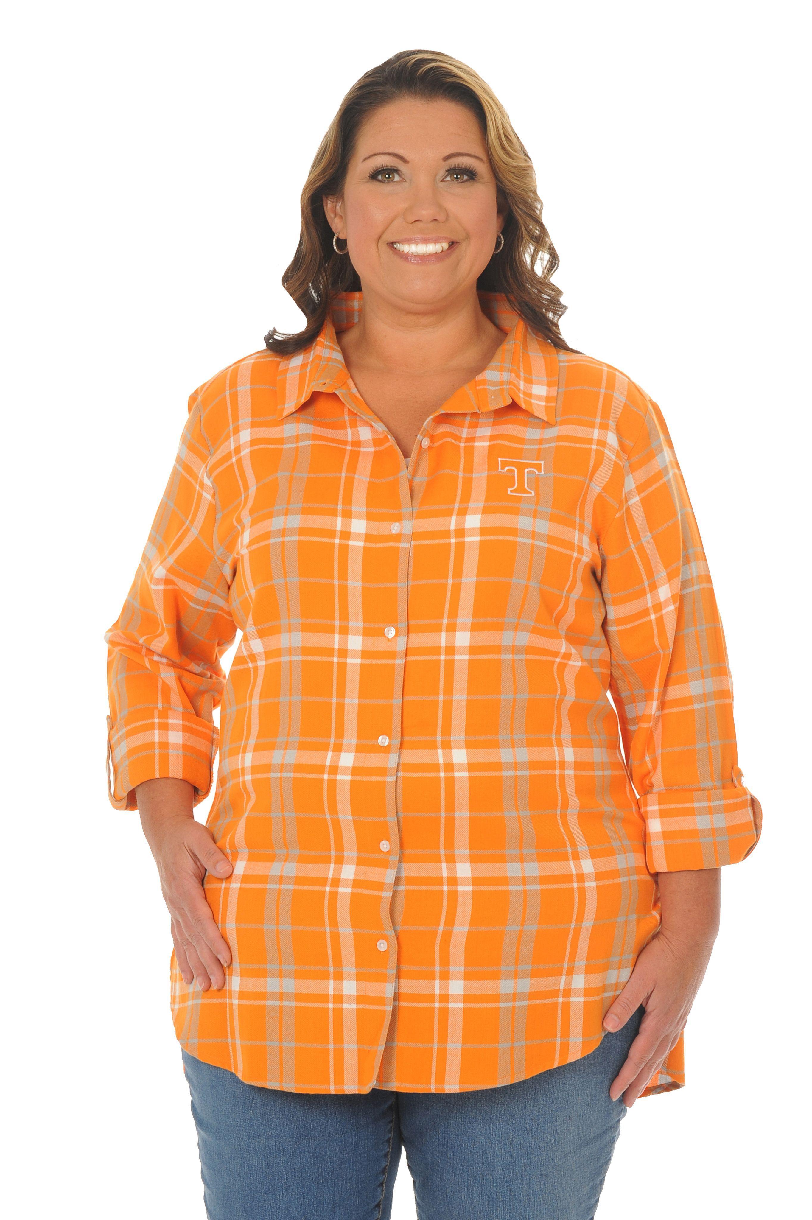 Plus size flannel shirt dress  Tennessee Volunteers Plus Size Boyfriend Plaid Flannel  Products