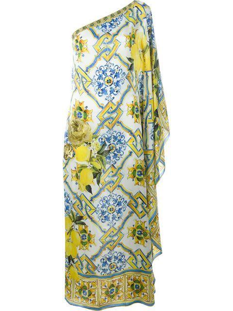 51151cf6a7 DOLCE   GABBANA Majolica Print Kaftan Dress.  dolcegabbana  cloth  dress