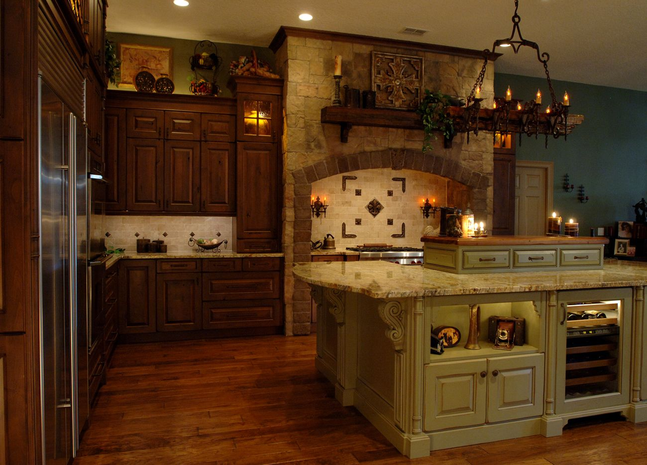This old world kitchens looks like it's straight out of a ...