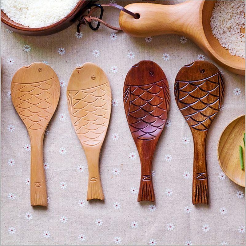 Dishes And Plates Sets Lunchbox Japanese Wood Fish Wooden ...