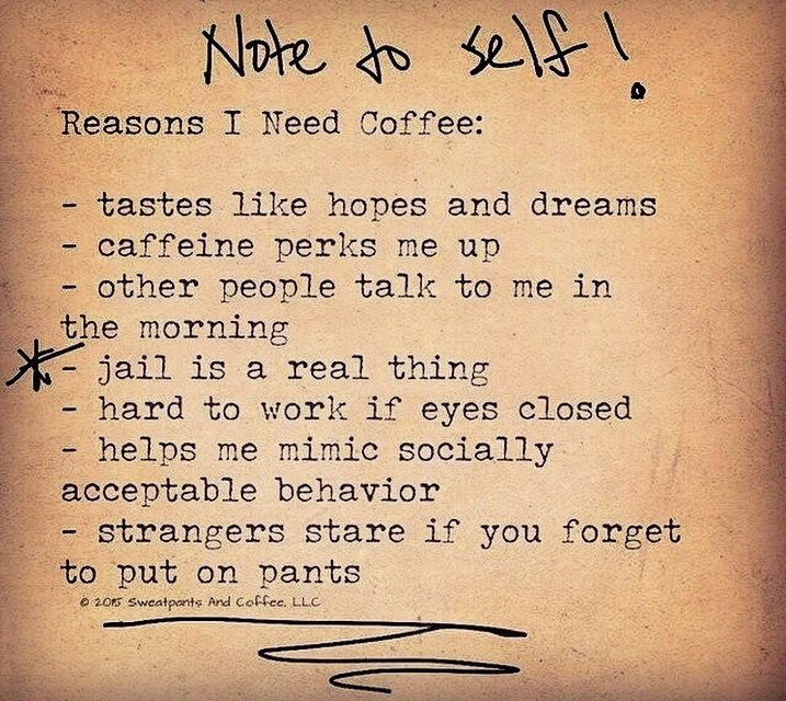 Pin by Renée on I ️ Coffee Note to self, Need coffee