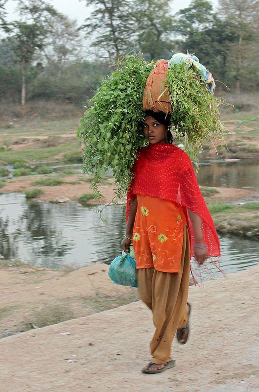 Farm Girl in Red--Khajuraho, Madhya Pradesh, India  | Flickr - Photo Sharing!