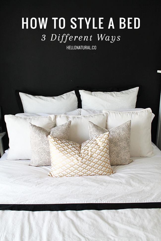 HOW TO: Style A Bed 3 Ways | Einrichten Und Wohnen, Rund Ums Haus Und Runde