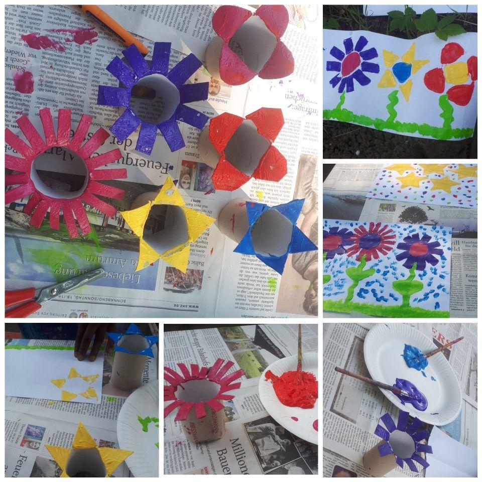 Basteln mit Kindern aus einfachen Materialien 1. Klopapierrollen ...