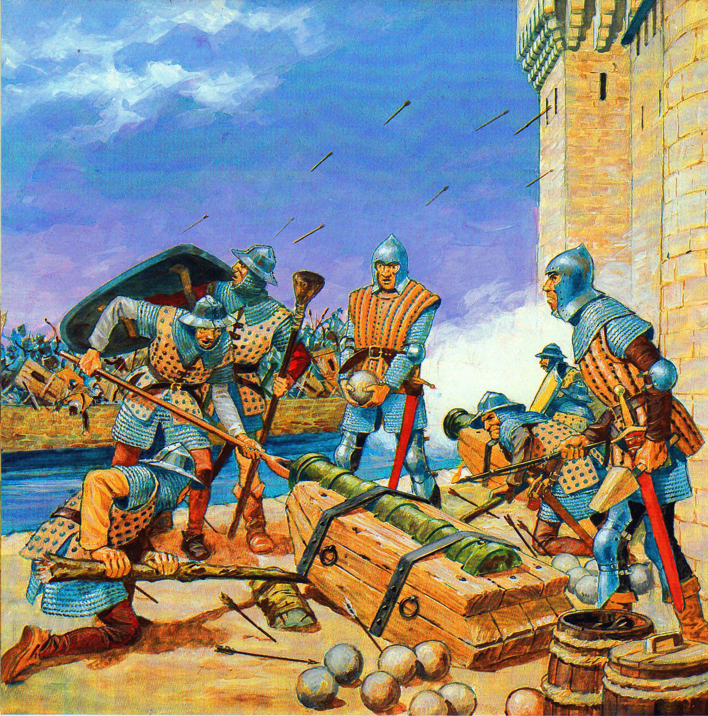 French Cannon In Battle Hundred Years War