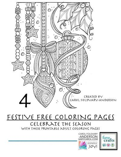 festive colouring pages