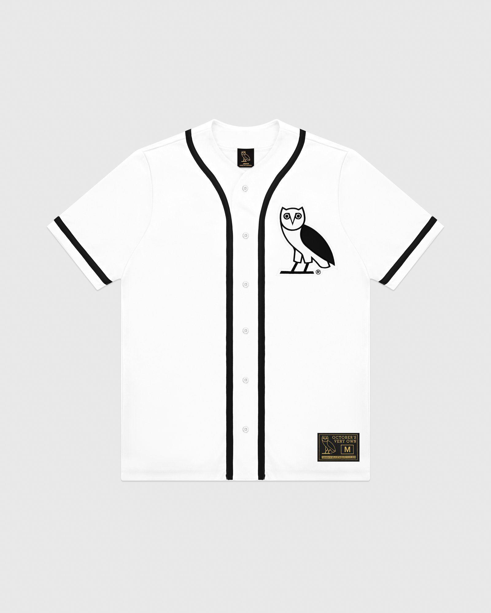 35b459fa0619f Ovo baseball jersey - white in 2019 | cam stuff | Baseball jerseys ...