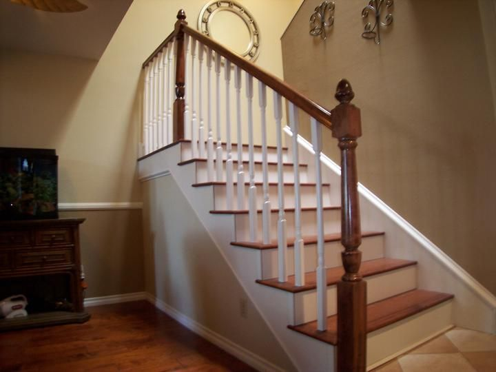 Delicieux Iron U0026amp; Wood Stair Railing Contractors Laguna Niguel CA Wood Railings  For Stairs, Wood