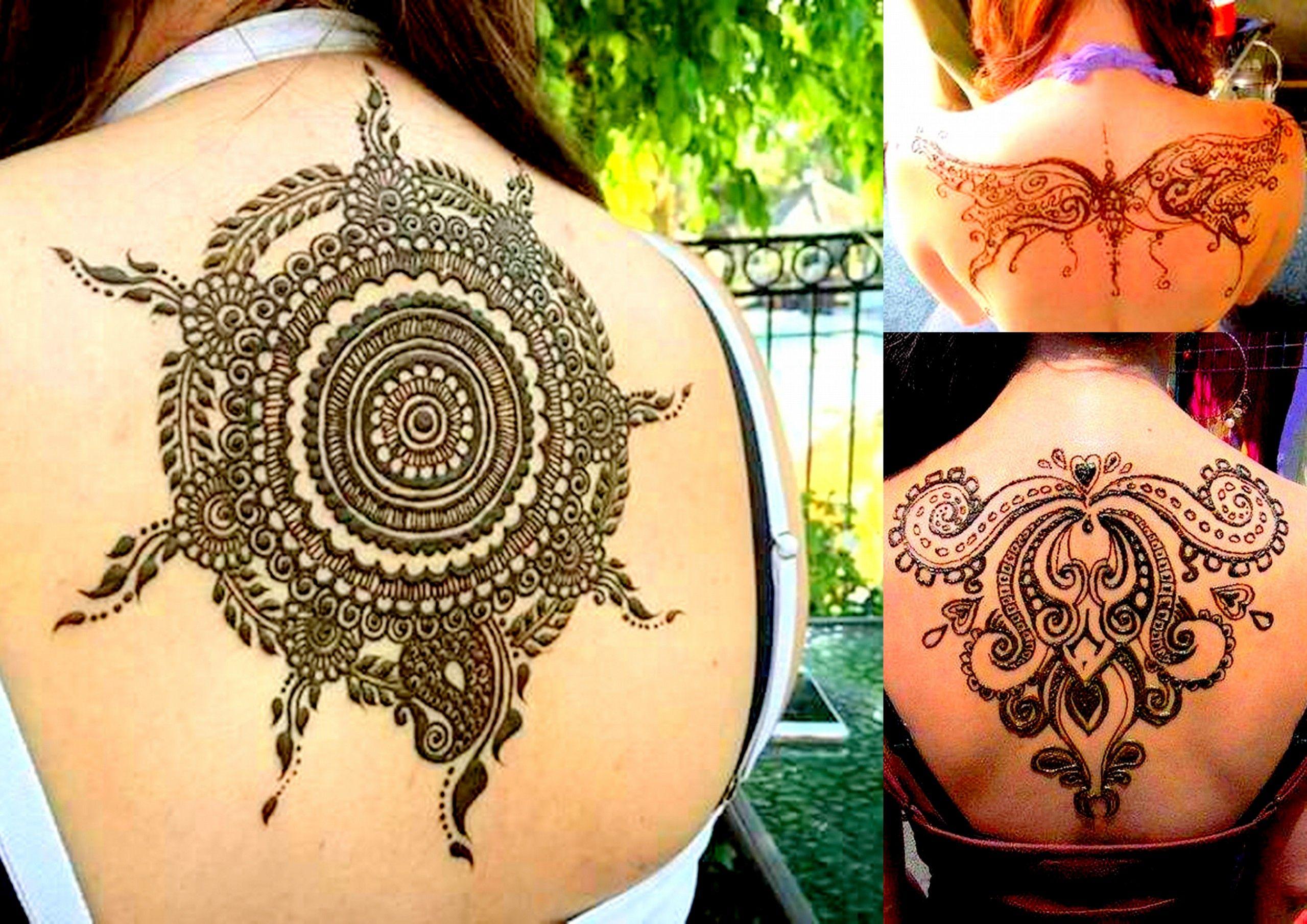 Mehndi Bunch On Arm : Back mehndi designs lifestyle