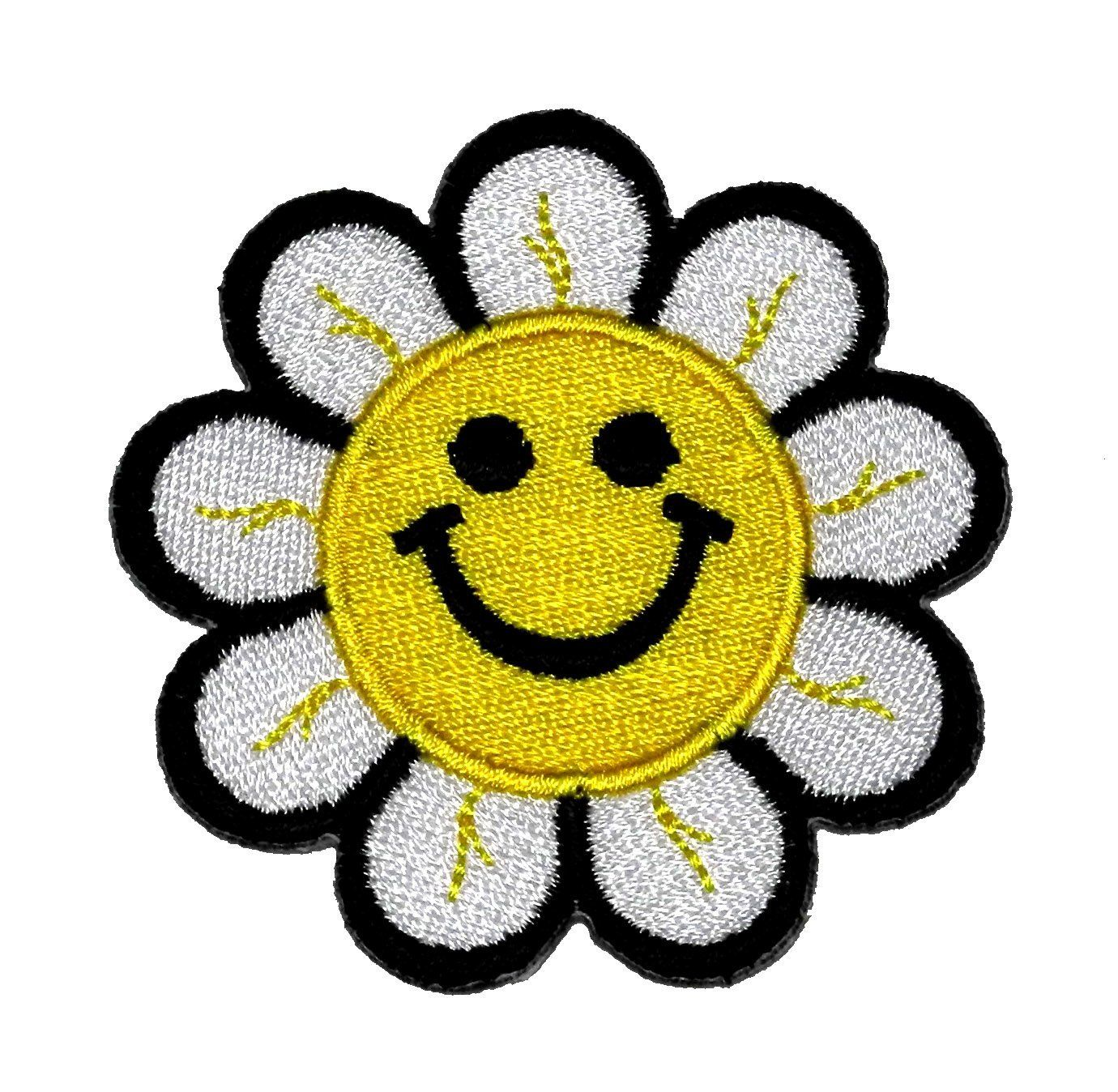 Cute Sunflower Smile Flower DIY Embroidered Sew Iron on