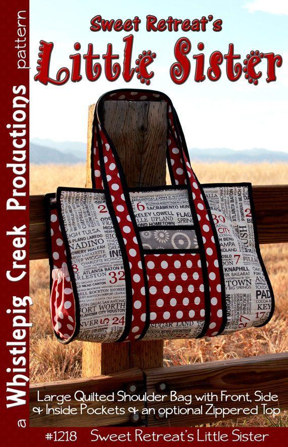 pdf sweet retreats little sister tote sewing pattern. Black Bedroom Furniture Sets. Home Design Ideas