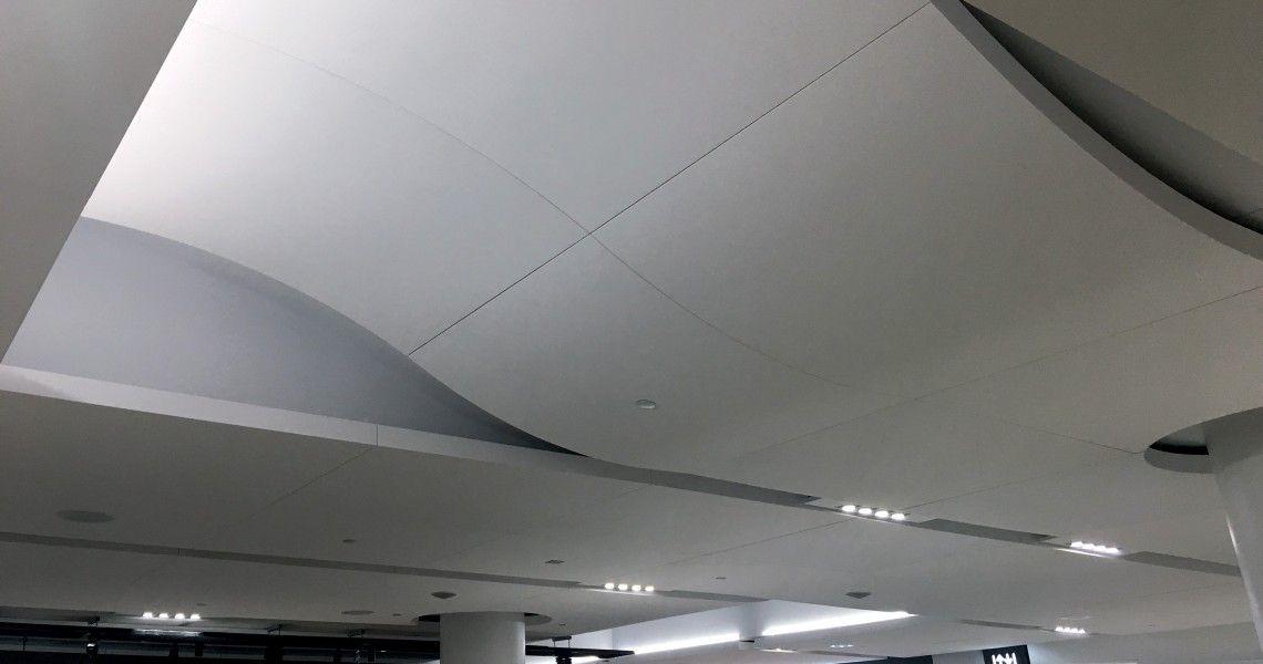 Decoustics Custom S Shaped Or Wave Panel Claro Acoustic Panels Curve Building International Airport