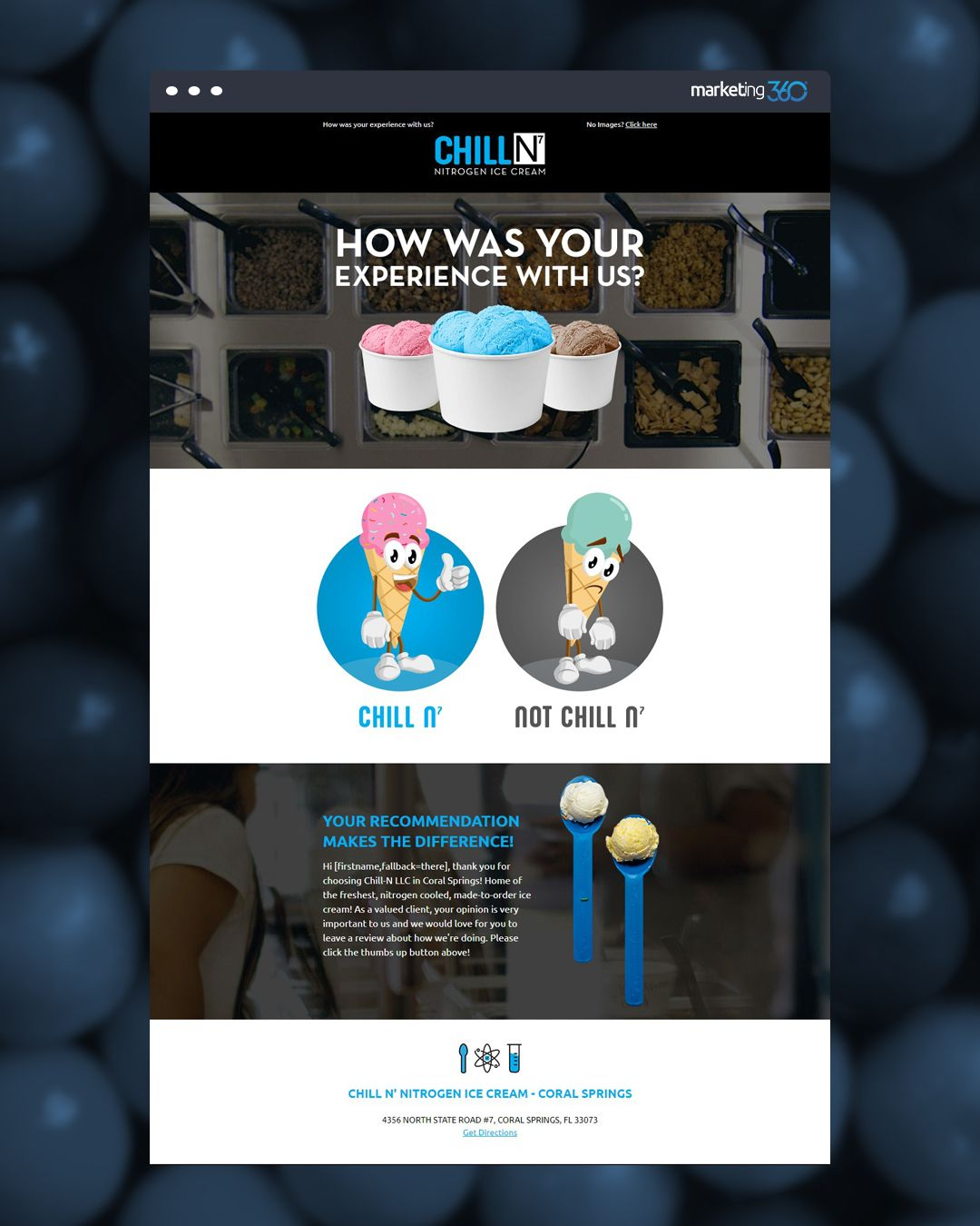 Design Of The Day Ice Cream Email Design Concept By Our Talented Designer Hollie Giddens Email Design Logo Concept Concept Design