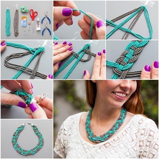 Craft ideas 3203 - DIY Stunning Woven Beaded Necklace