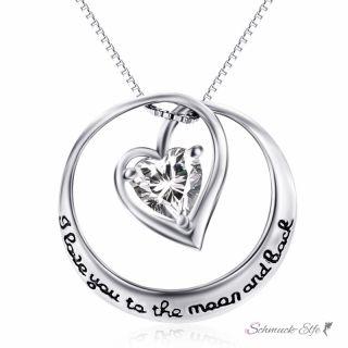 Anhänger Zirkonia Herz  Amulett