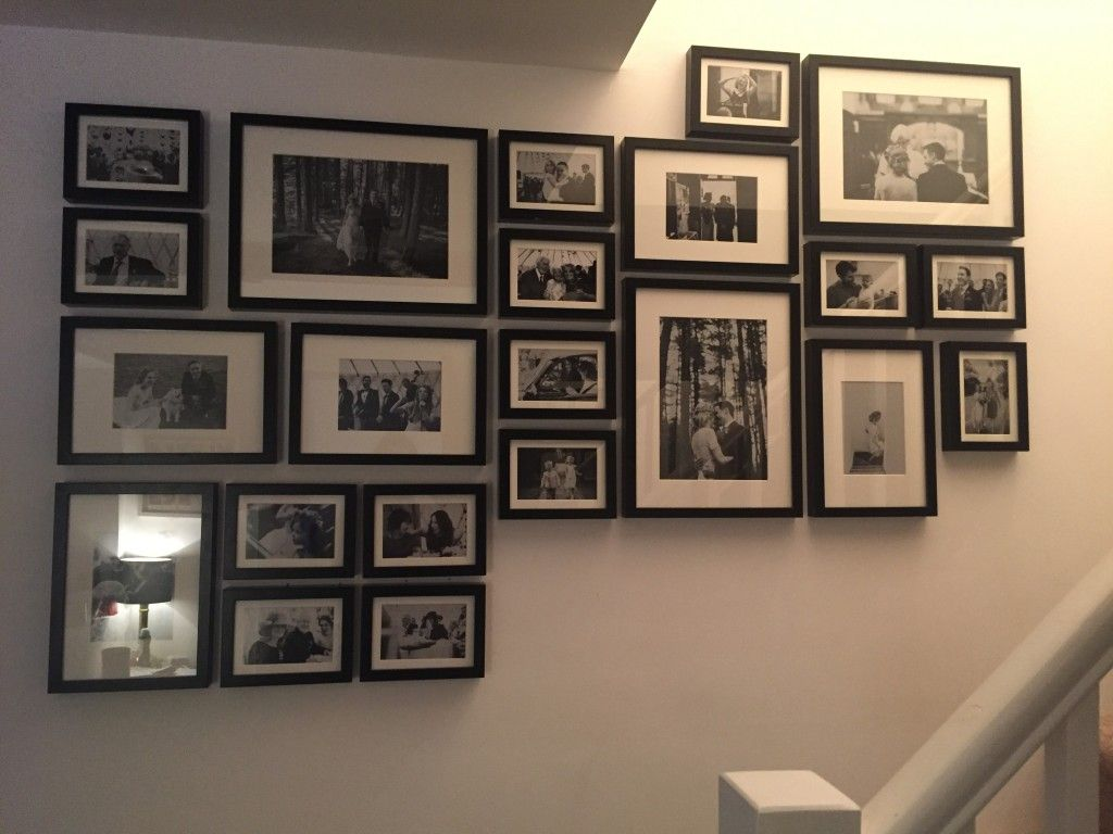 Ikea Wall Frames Uk Photo Gallery Wall Made Using Ikea Ribba Frames Step By Stem