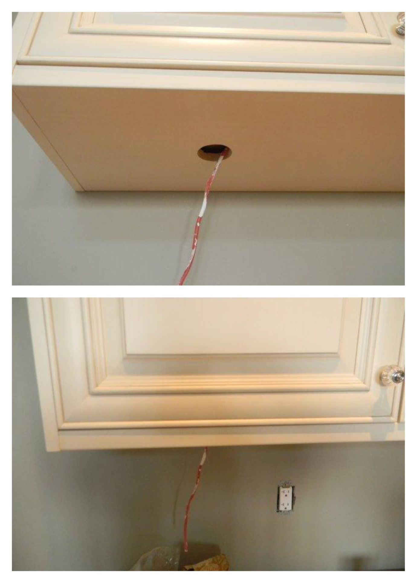 This Is How You Do A False Bottom For Under Cabinet Lighting In A Kitchen Nancy Esmon Cabinets Under Cabinet Lighting Superior Cabinets Kitchen Caninets