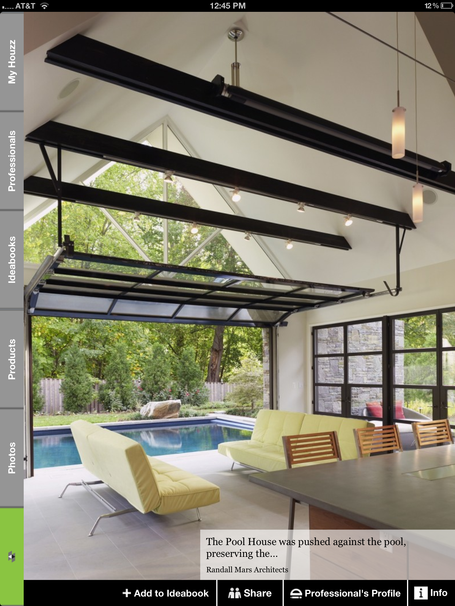 Pin by Tami Rush on houzz app | Pool house designs, Glass garage
