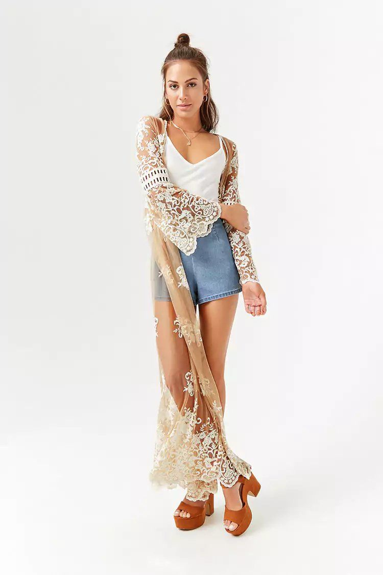 9abd108f99b Product Name:Sheer Embroidered Longline Kimono,  Category:outerwear_coats-and-jackets, Price:34.9