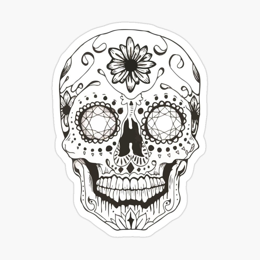 Get My Art Printed On Awesome Products Support Me At Redbubble Rbandme Https Www Redbubble Co Sugar Skull Drawing Skull Coloring Pages Sugar Skull Tattoos