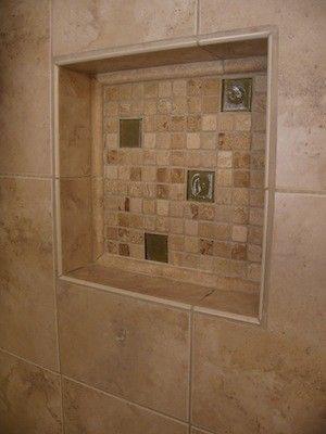 Travertine Shower Shelf Tile Contractor Creative Works