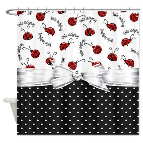 Little Ladybug Shower Curtain By Debiydo Dream Shower Ladybug Ladybug Baby Shower