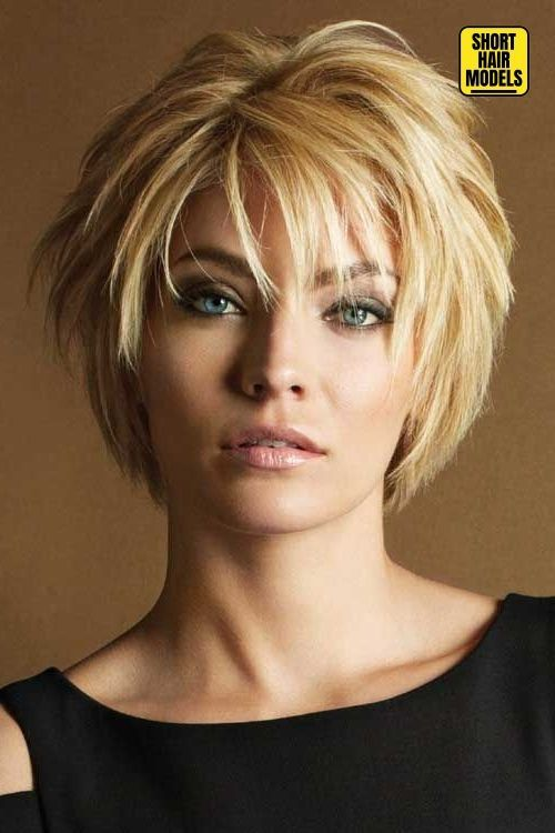 20 Top Incredible Short Haircuts with Bangs - Stylendesigns #shorthaircutsforwomen