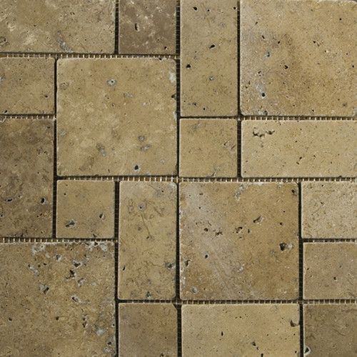 Trav Ancient Tumbled 12 X 12 Travertine Mosaic Tile Travertine Mosaic Tiles Travertine Emser