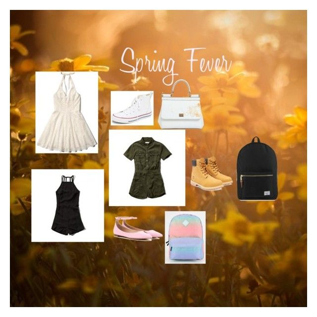 3 outfits (spring) by zampie on Polyvore featuring polyvore, fashion, style, Abercrombie & Fitch, Converse, Timberland, Gianvito Rossi, Herschel Supply Co., Vans, Dolce&Gabbana and clothing