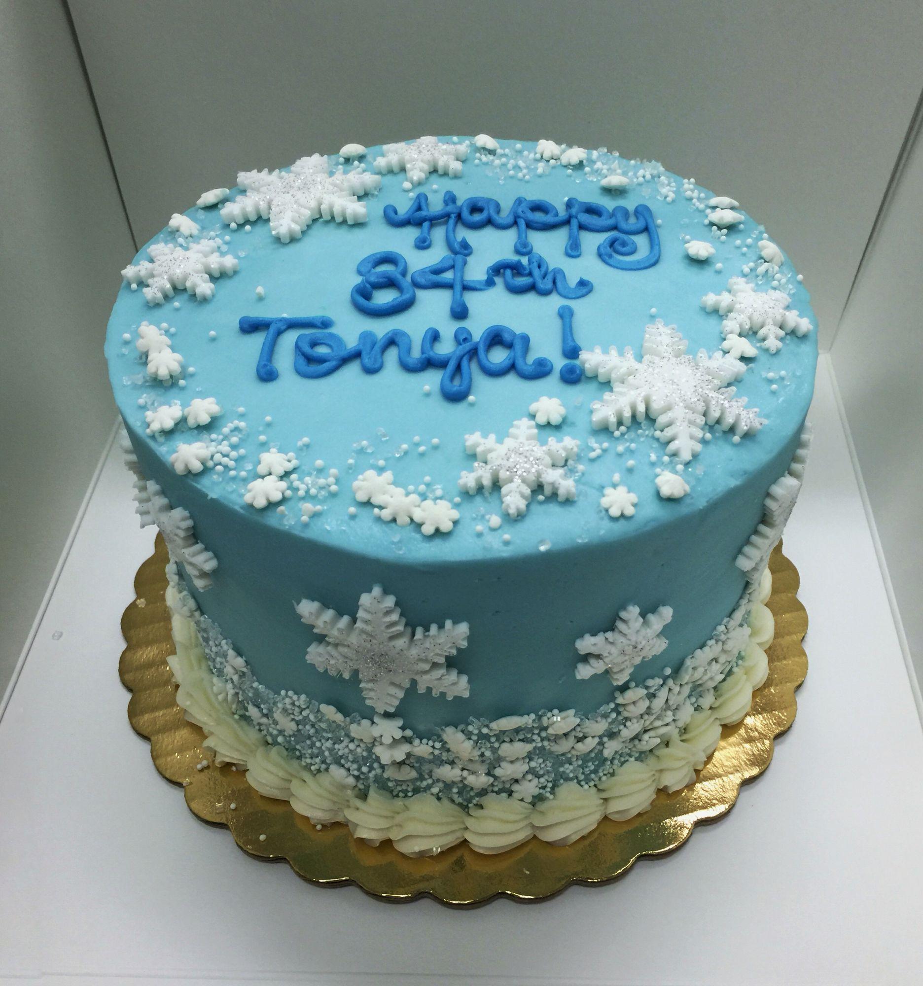 Winter Themed Birthday Cake Creative Cakes Pinterest Creative