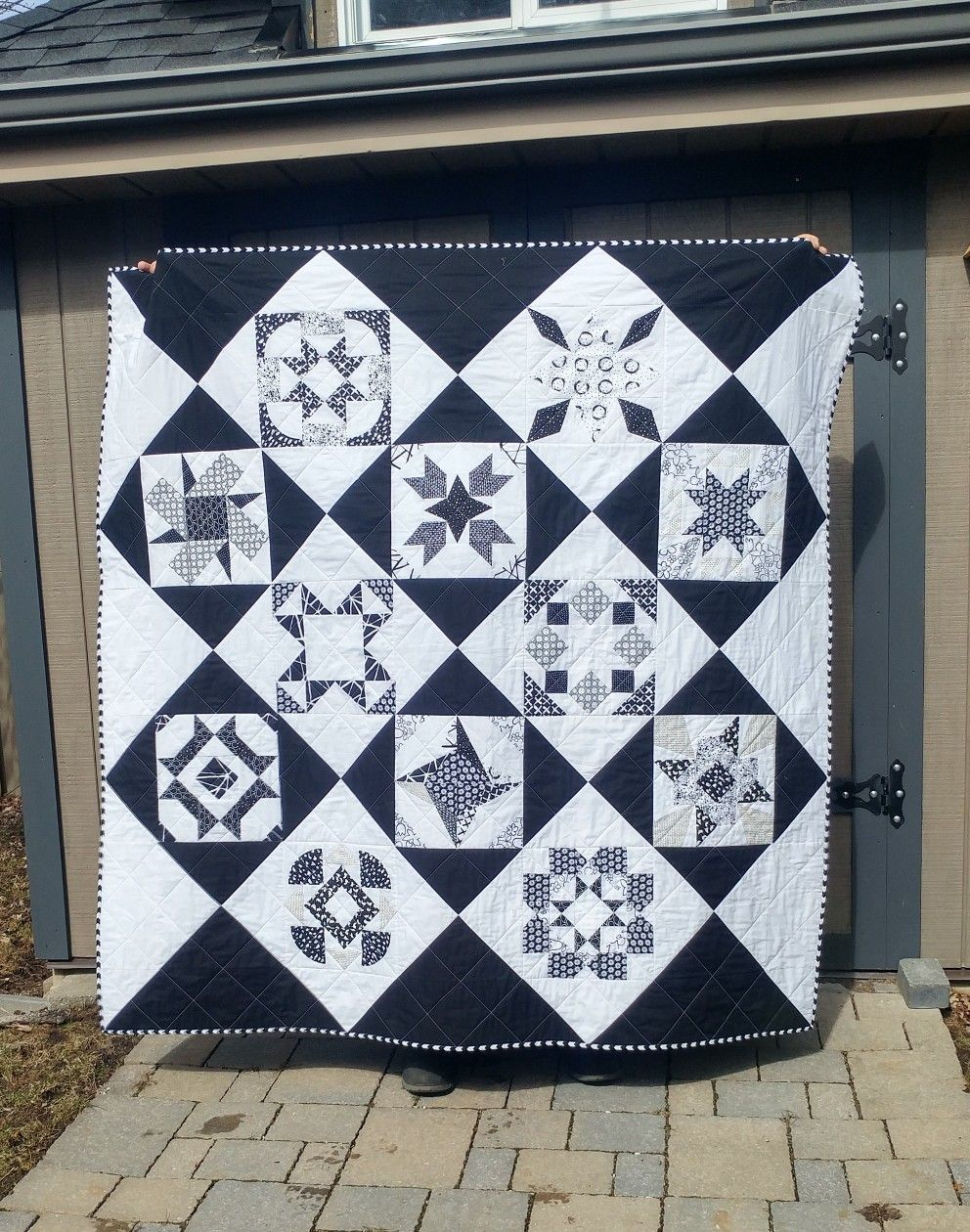 All But One Black And White Quilt For Sale Quilts For Sale Throw Quilt Quilts Black and white quilts for sale