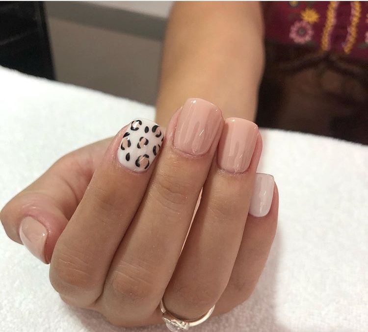 Pink Cheetah Nails Pink Cheetah Nails Cute Nails Nails Inspiration