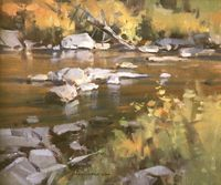 """""""Brookie Stream""""   10x12   not for sale"""