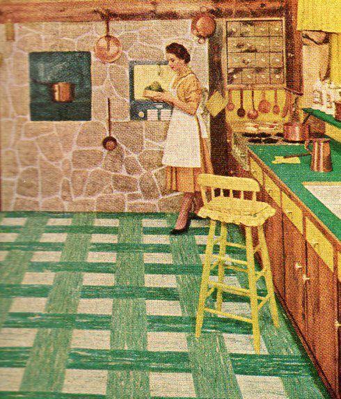 Retro Linoleum Kitchen Flooring: The Colors. The Tiles. Retro