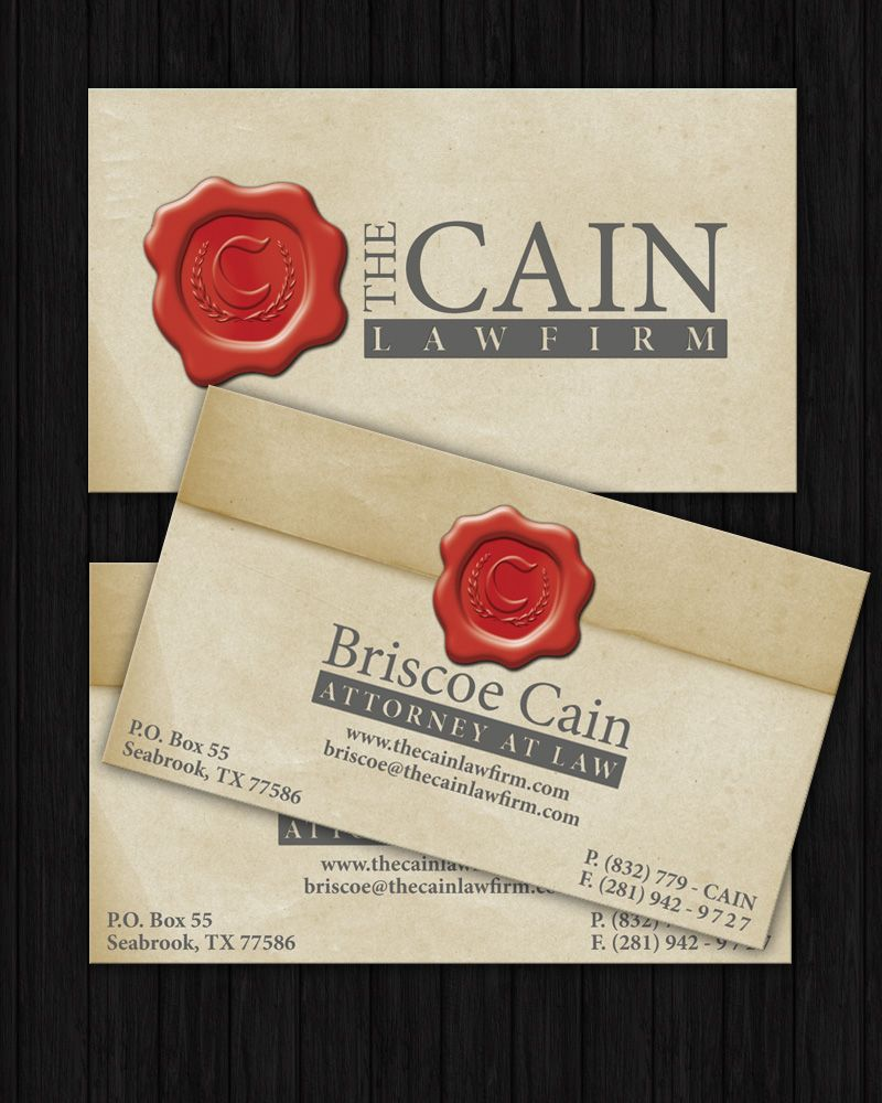 Branding and business cards for attorney briscoe cain red wax branding and business cards for attorney briscoe cain red wax seal effect used with monogram magicingreecefo Choice Image