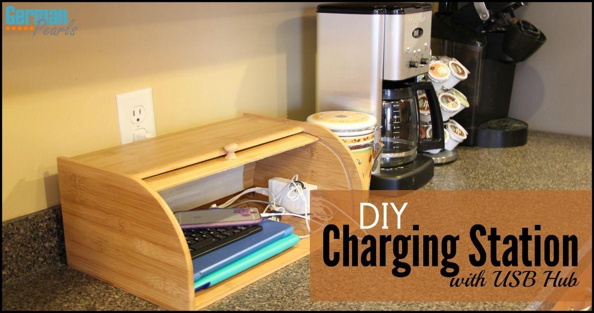 Diy charging station organizer with usb hub charging