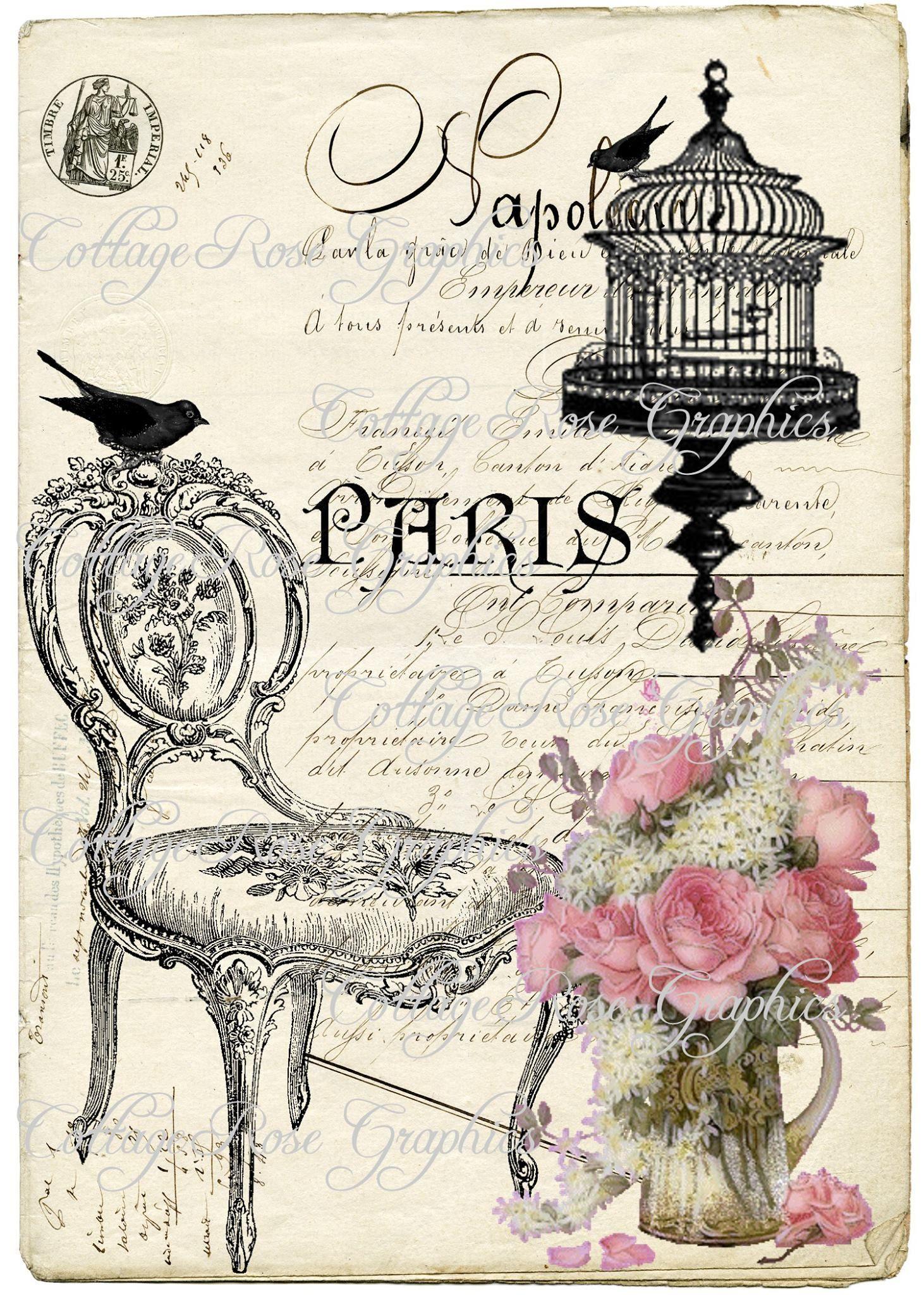 Hojas para decoupage vintage inspiraci n fashion - Laminas decorativas vintage ...