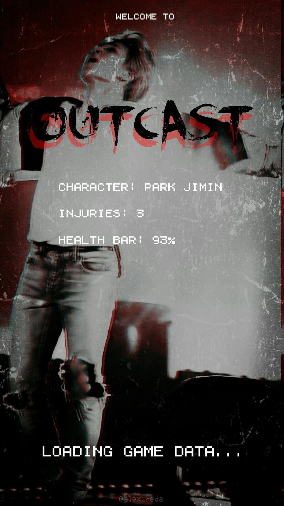 Park Jimin Outcast BTS AU Lockscreen #jimin #bts #outcast