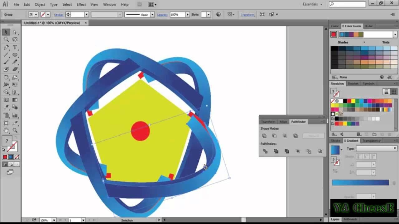 How to make logo design illustrator cc tutorial youtube