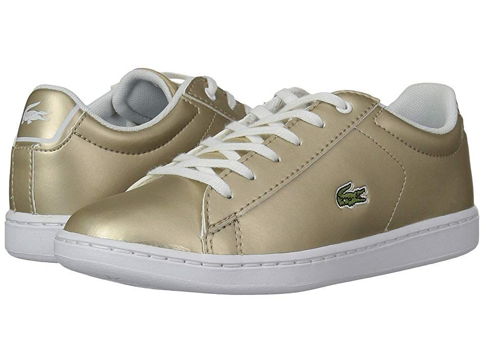 29b26e3ab Lacoste Kids Carnaby Evo (Little Kid) (Gold/White) Kids Shoes. Polish their  look in the outstanding sneakers from Lacoste Kids! Smooth synthetic upper.