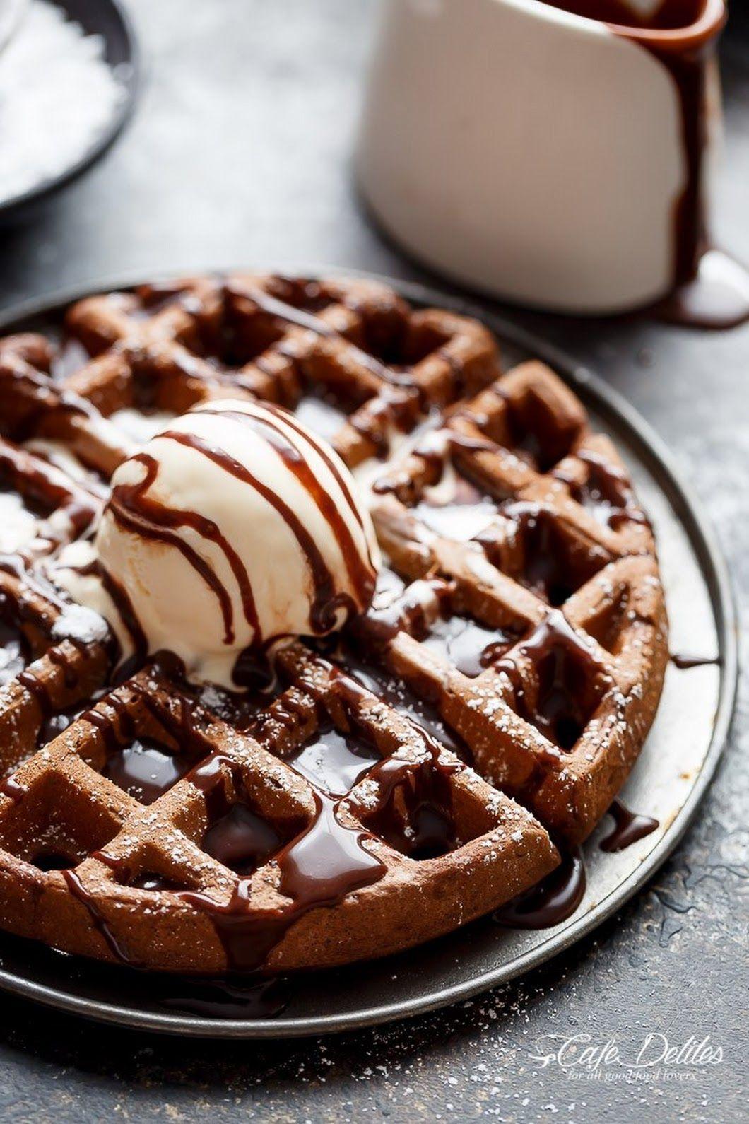 Waffles con Chocolate