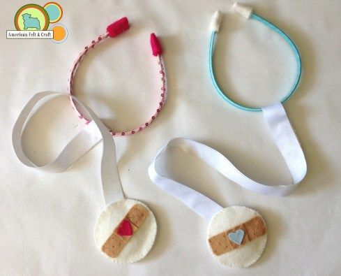 Doc McStuffins Inspired Felt Stethoscopes